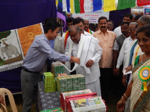 Shri G T Deve Gowda, President of Federation of Cooperatives in Karnataka visits Tibetan Cooperative stall